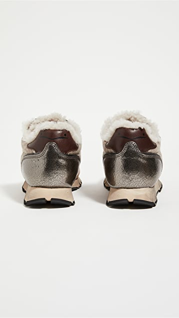 Voile Blanche Julia Shearling Trainers