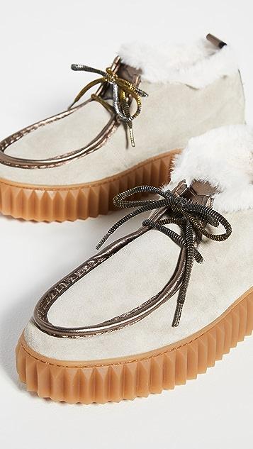 白色 Penelope 中筒靴