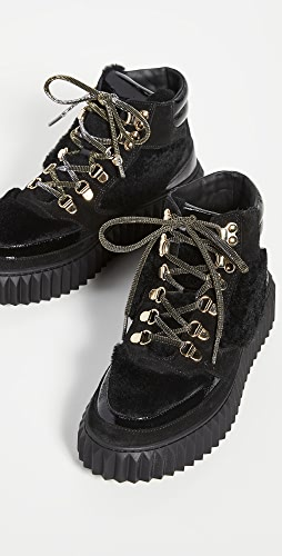 Voile Blanche - Eva Shearling Hiker Boots