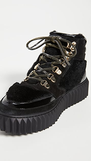 Voile Blanche Eva Shearling Hiker Boots
