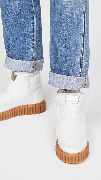 白色 Bice 01 松紧短靴