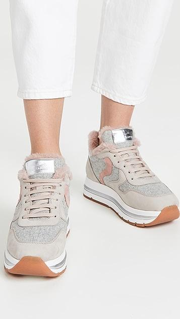 Voile Blanche Maran Fur Sneakers