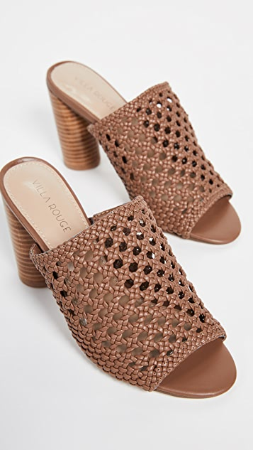Villa Rouge Pattie Tall Woven Mules
