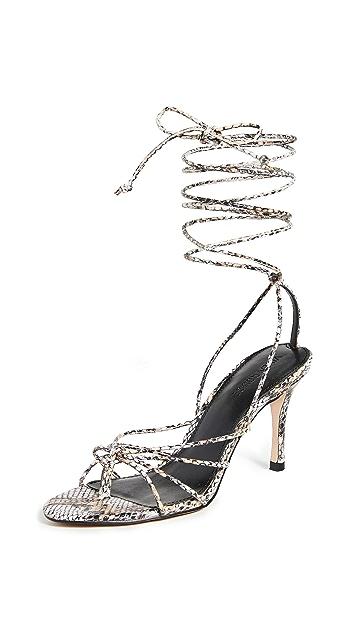 Villa 胭脂红 Aries 凉鞋