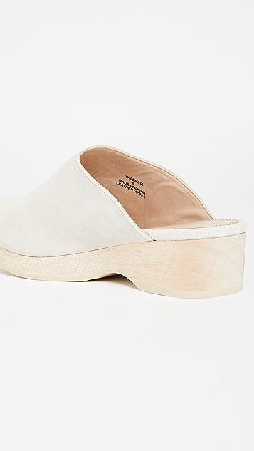 Villa 胭脂红 Valencia 木底鞋