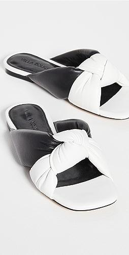 Villa Rouge - Maddox Puffy 褶皱凉鞋