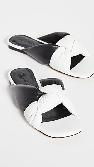 Villa Rouge Maddox Puffy Ruched Sandals