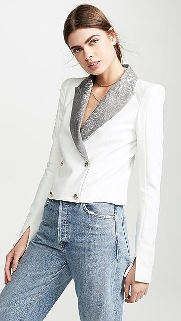 Valentina Shah Ines Blazer - White/Ray
