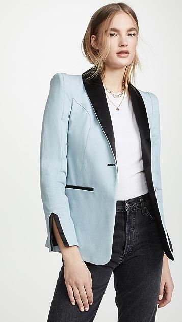 Valentina Shah Lauren Smoking Jacket - Blue/Black