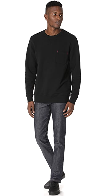 Velva Sheen Loopwheeler Crew Sweatshirt with Pocket