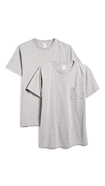 Velva Sheen Short Sleeve Pocket Tee 2 Pack
