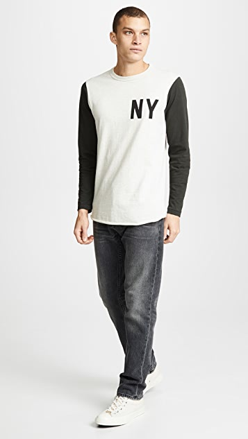 Velva Sheen NY Set In Baseball Tee