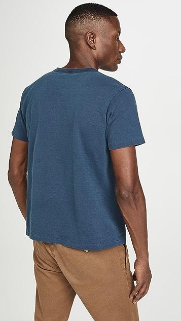 Velva Sheen Pigment Dyed Short Sleeves Henley