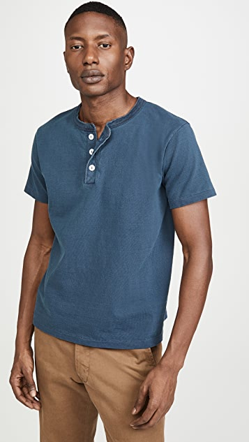 Velva Sheen Pigment Dyed Short Sleeves Henley