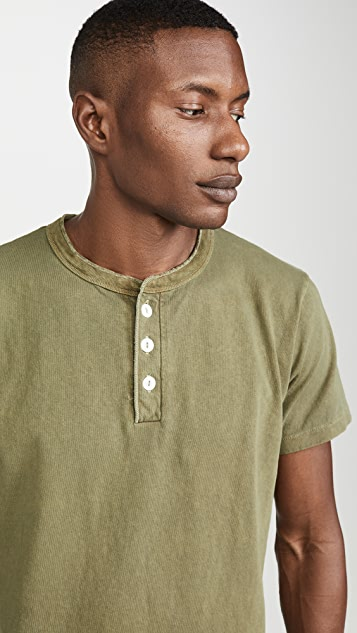 Velva Sheen Pigment Dyed Short Sleeve Henley
