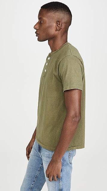 Velva Sheen Pigment Dyed Short Sleeve Henley
