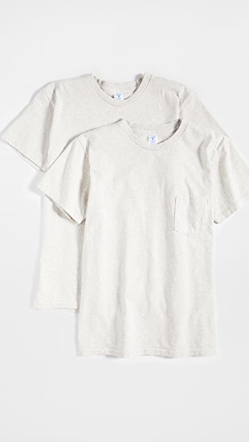 Velva Sheen 2 Pack Short Sleeve Pocket T-Shirt