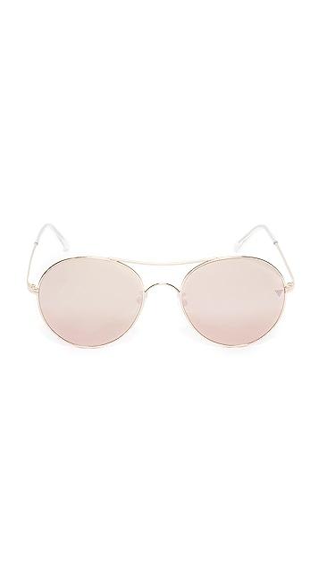 Vedi Vero Round Aviator Sunglasses