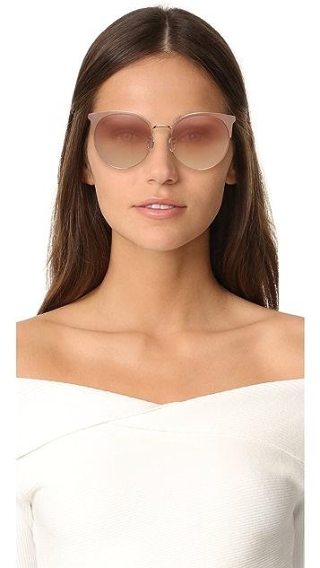 Vedi Vero Oversized Round Sunglasses