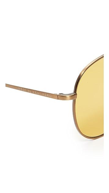 Vedi Vero Vedi by Vedi Vero Browbar Aviator Sunglasses