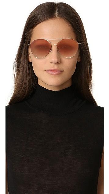 Vedi Vero Vedi by Vedi Vero Geometric Aviator Sunglasses