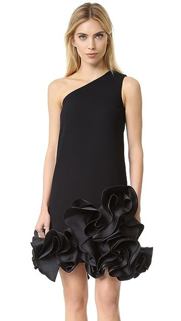 Victoria Victoria Beckham Single Shoulder Ruffle Dress