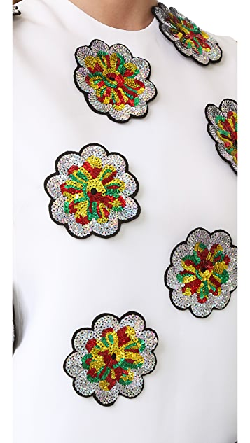 Victoria Victoria Beckham Embroidered Shift Dress