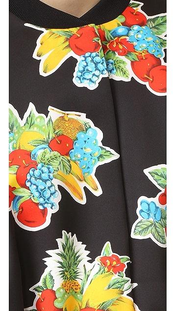 Victoria Victoria Beckham Printed Crop Bomber Jacket
