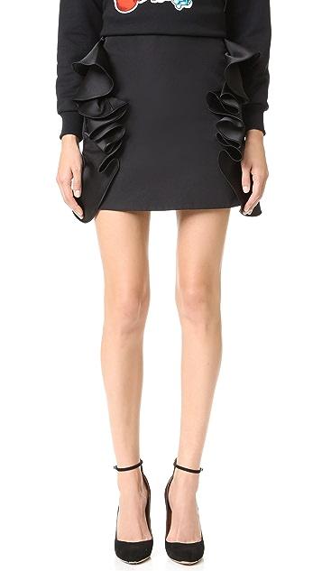 Victoria Victoria Beckham Flounce Trim Miniskirt