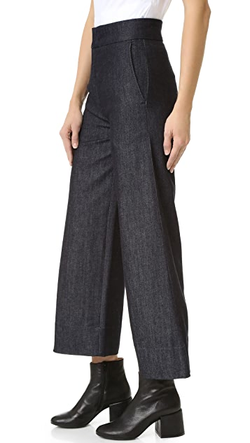 Victoria Victoria Beckham Cropped Super Wide Jeans