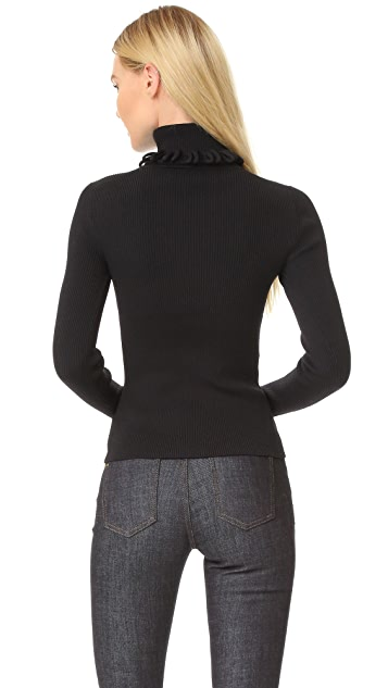 Victoria Victoria Beckham Multi Loop Roll Neck Sweater