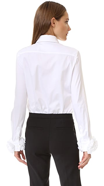 Victoria Victoria Beckham Appliqued Cuff Shirt