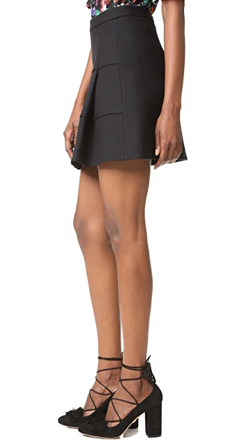 Victoria Victoria Beckham Panelled A-Line Miniskirt