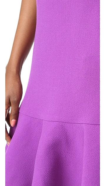 Victoria Victoria Beckham Flounce Hem Dress