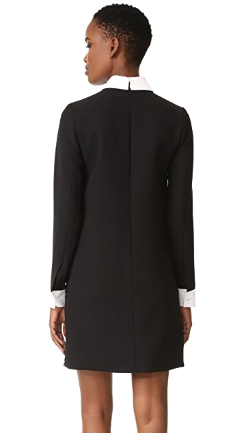 Victoria Victoria Beckham Long Sleeve Shift Dress