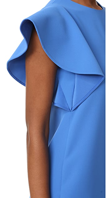 Victoria Victoria Beckham Flounce Sleeve Shift Dress