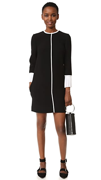 Victoria Victoria Beckham Pleat Cuff Shift Dress