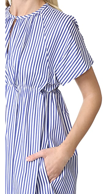 Victoria Victoria Beckham Striped Empire Dress