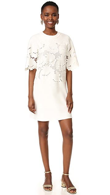 Victoria Victoria Beckham Lace Embroidered Shift Dress