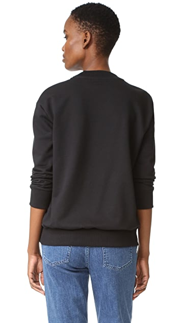 Victoria Victoria Beckham Patch Applique Sweatshirt