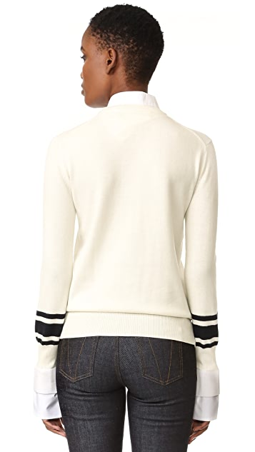 Victoria Victoria Beckham Contrast Cuff Sweater