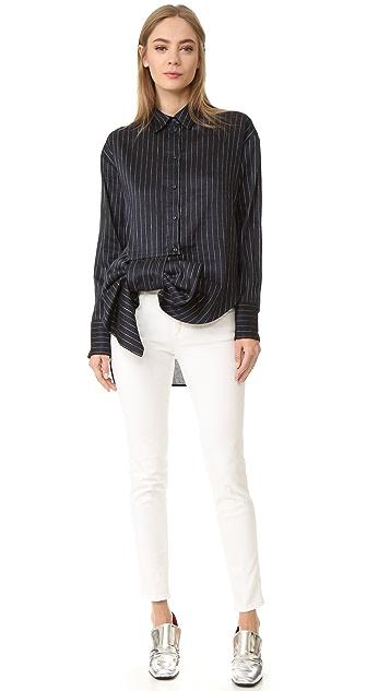 Victoria Victoria Beckham Asymmetrical Bow Shirt