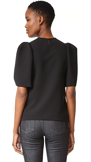 Victoria Victoria Beckham Gathered Sleeve Top