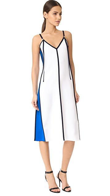 Victoria Victoria Beckham Panel V Neck Dress
