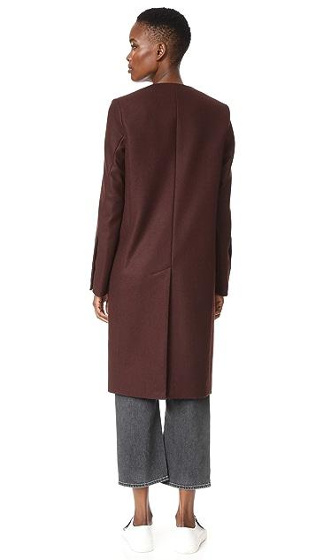 Victoria Victoria Beckham Collarless Straight Coat