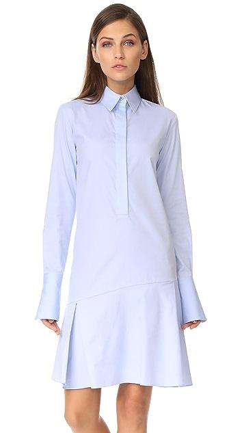 Victoria Victoria Beckham Flounce Shirtdress