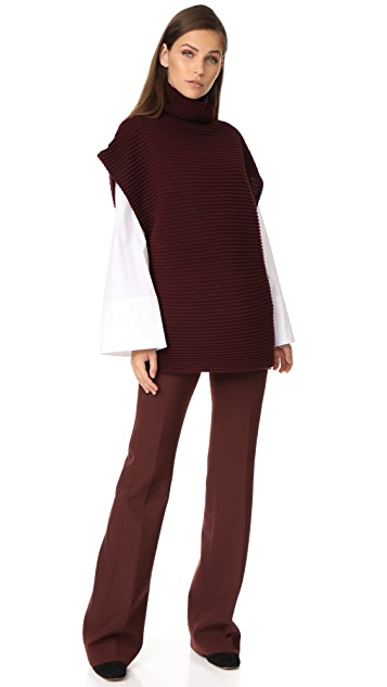 Victoria Victoria Beckham Sleeveless Funnel Neck Sweater
