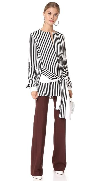 Victoria Victoria Beckham Waist Tie Blouse