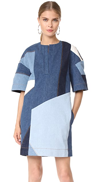 Victoria Victoria Beckham Patchwork Dress