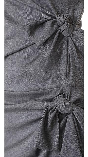 Victoria Victoria Beckham Asymmetrical Knot Dress